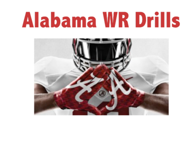 ALABAMA WR Fundamental Drills Powerpoint
