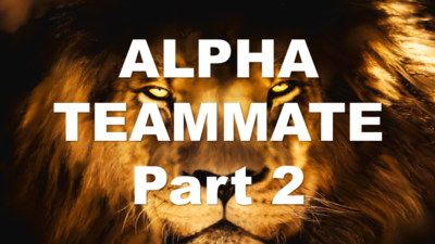 ALPHA TEAMMATE Part 2 - Leadership Lesson PP