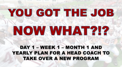 YOU GOT THE JOB - NOW WHAT?  DAY 1, WEEK 1, MONTH 1 AND YEARLY CHECKLIST