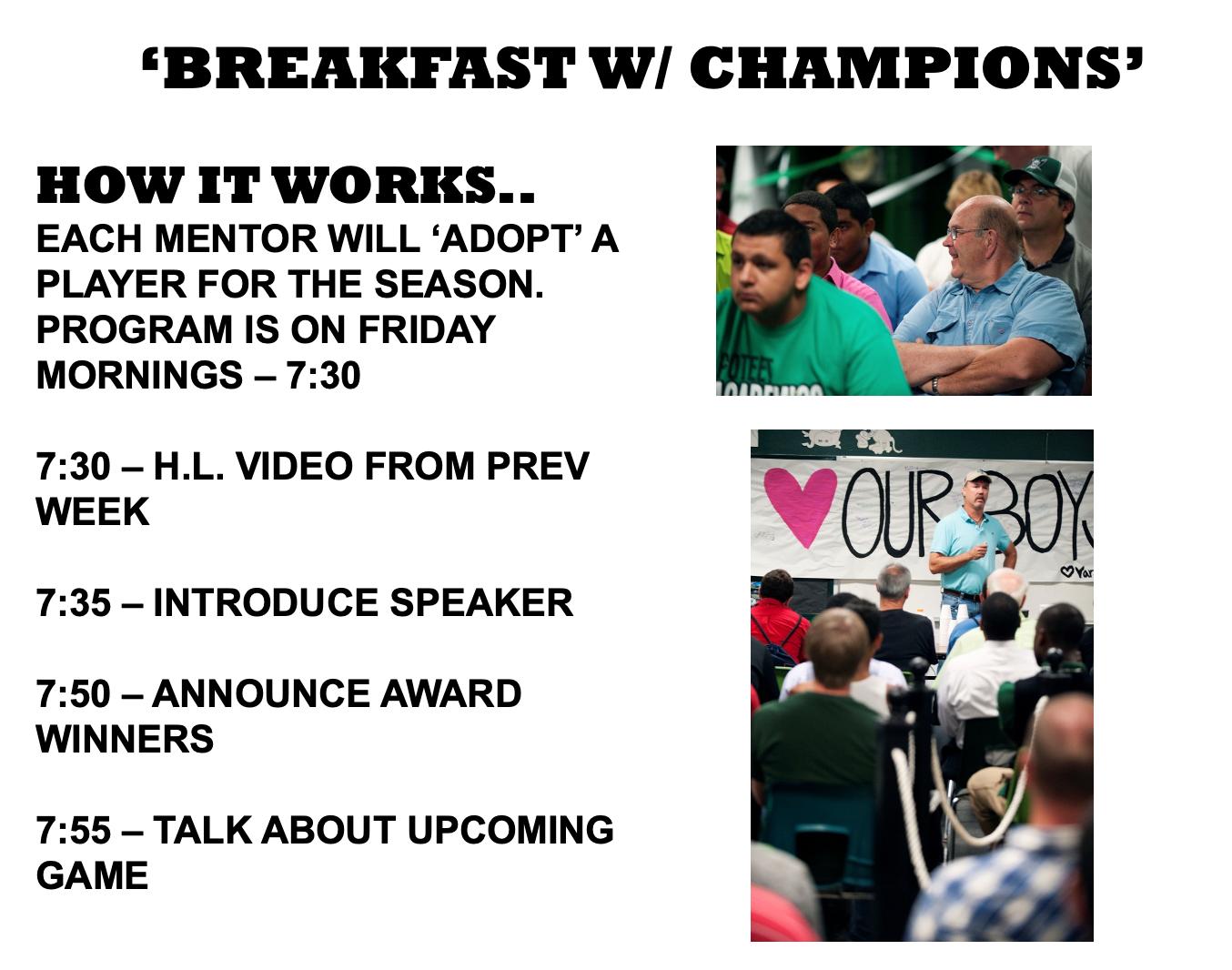 VIDEO - BREAKFAST W/ CHAMPIONS MENTOR PROGRAM