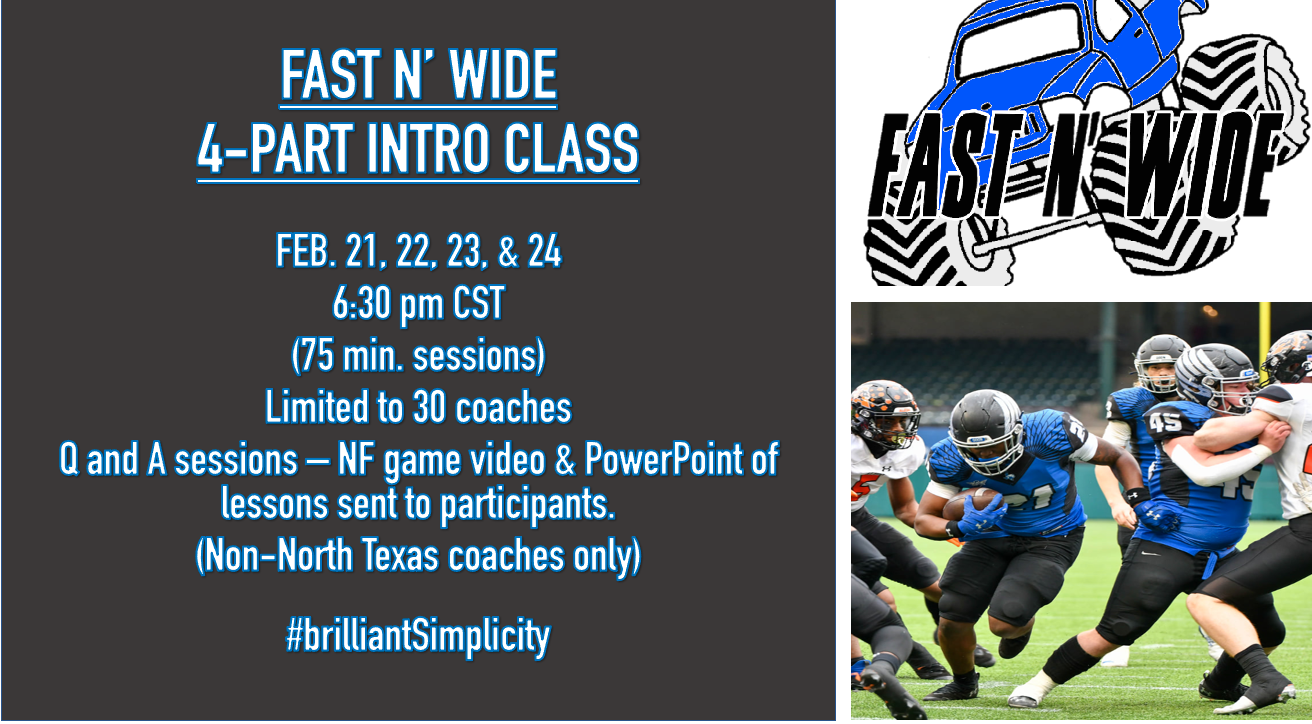 FAST N' WIDE 6 HOUR INTRO. CLASS - FEB. 21, 22, 23 and 24 (75 min. each)