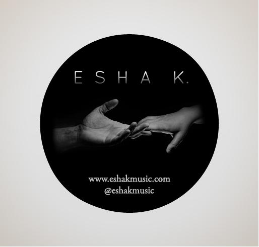 Esha K. Vinyl Sticker
