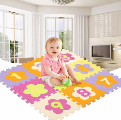 Education Baby Play Puzzle Mat 9 pc