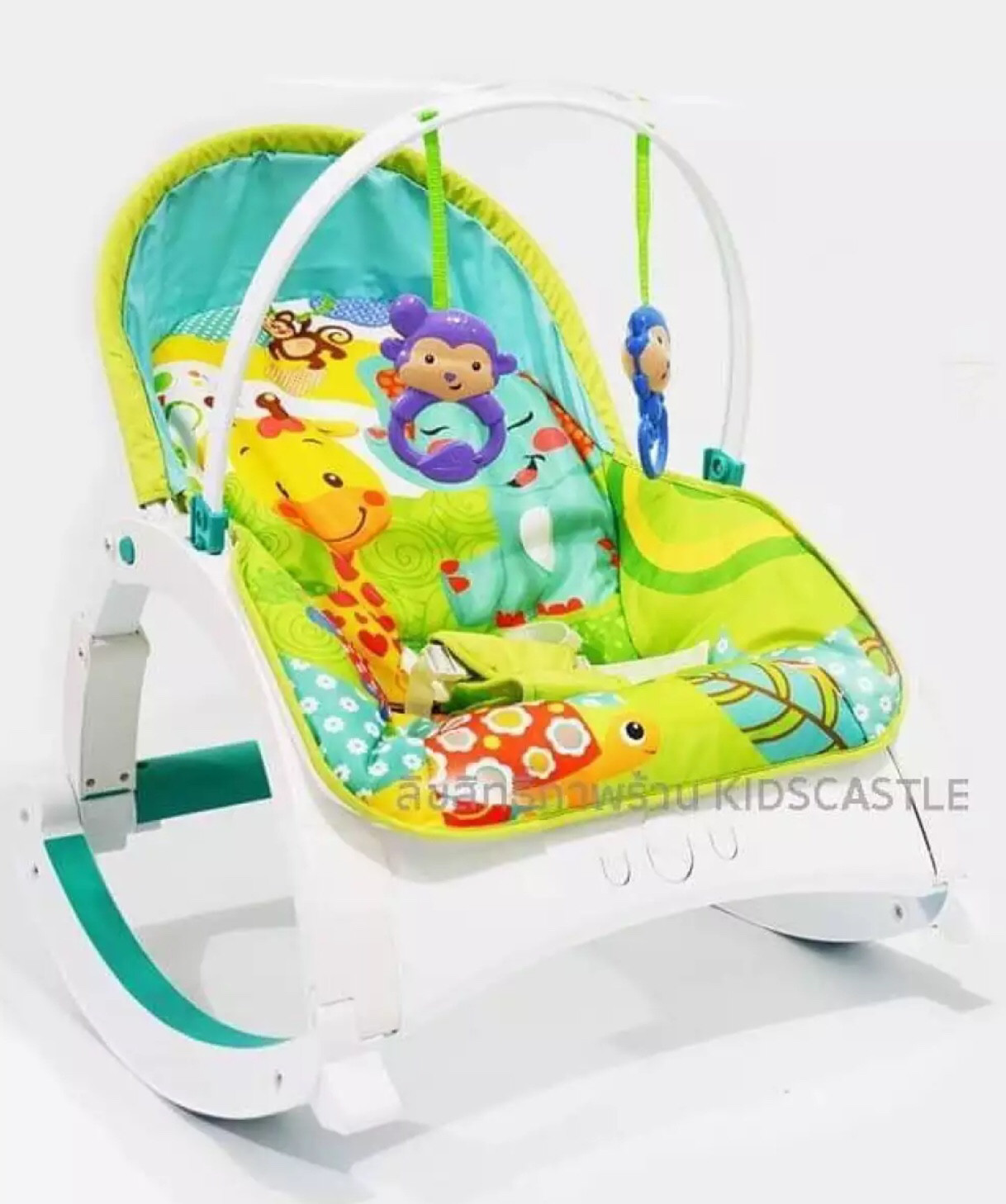 Toddler Rocker Bouncy Seat with Vibration & Music