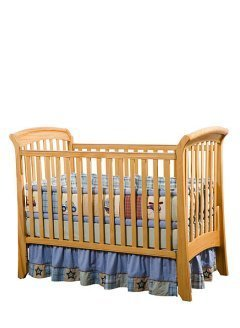 Full Size Crib with Linens and Mosquito Net
