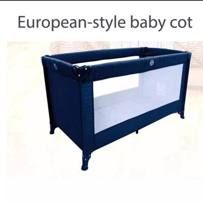 Long Portable Baby Cot with Linen