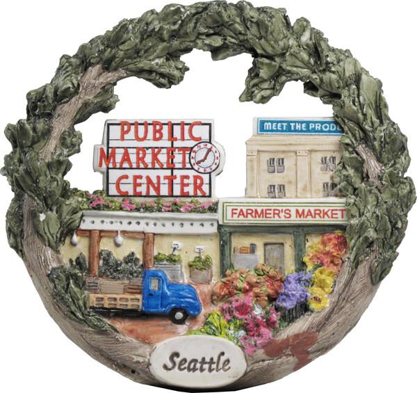 AmeriScape Ornament Seattle, Washington, Public Market