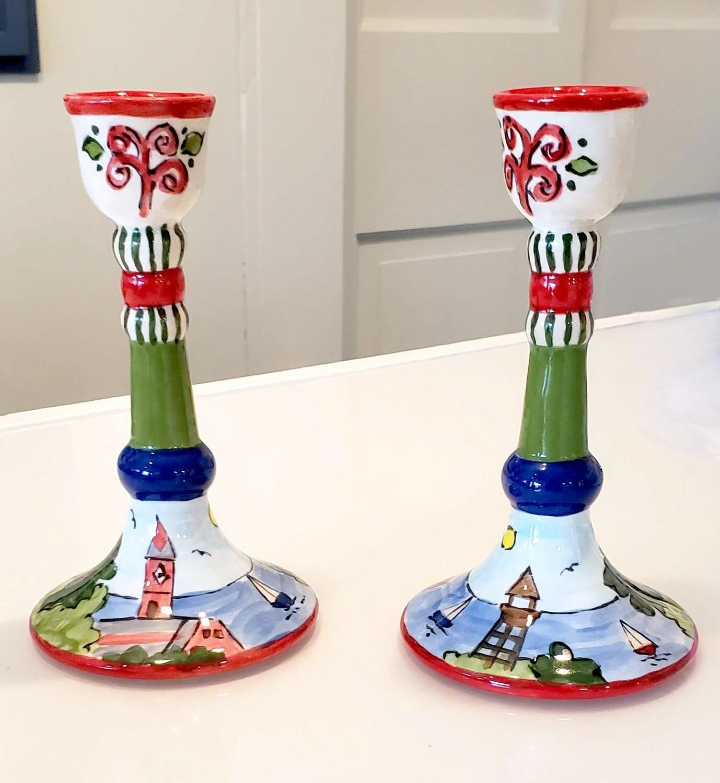 Marblehead Ceramics Candlestick