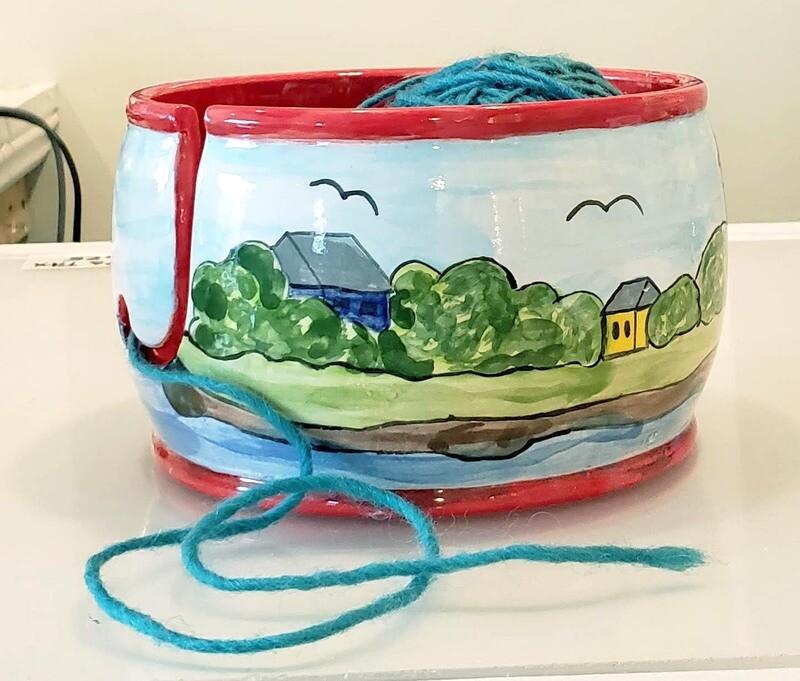Knitting Yarn Keeper Bowl