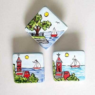 Ceramic Square Pins
