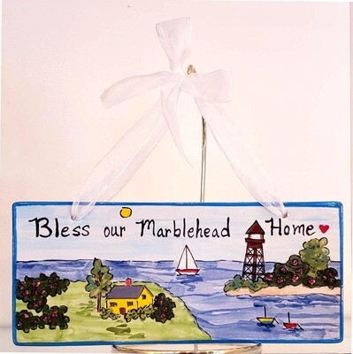 Bless our Marblehead Home Plaque