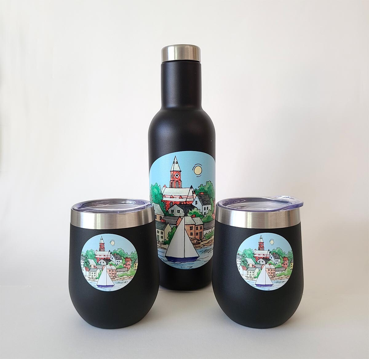 Marblehead WaterScape - Insulated Beverage Growler and Tumbler Set
