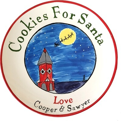 Cookies for Santa or Children's First Christmas Plate
