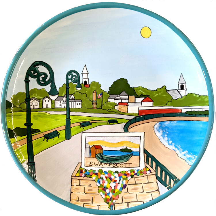 Entering Swampscott Plate / Platter or House Plaque
