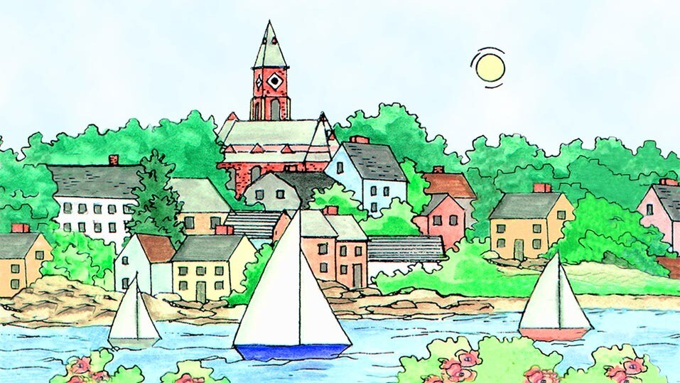 Marblehead WaterScape Checkbook Cover