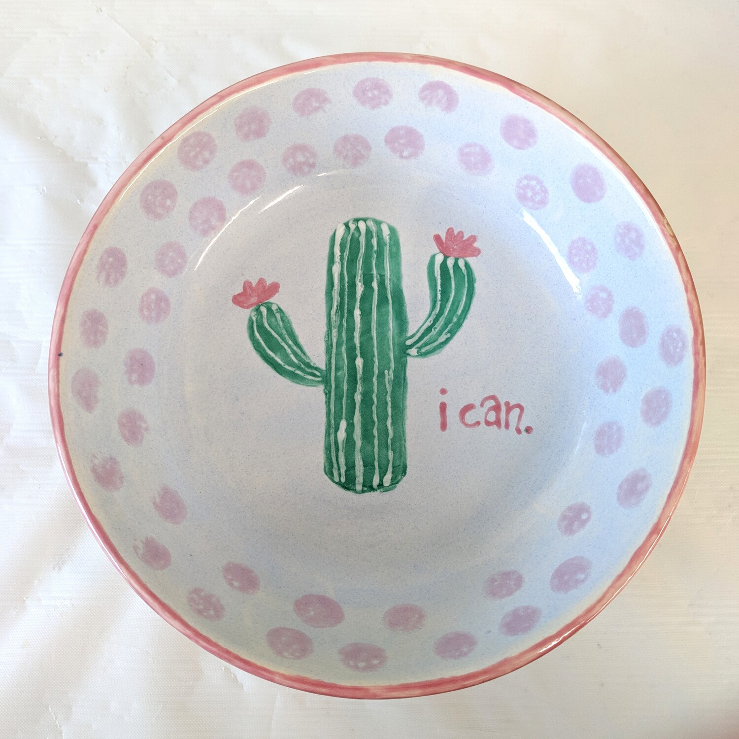 Cactus Pattern In Soup Bowl Class for 3+