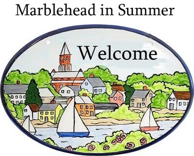 Marblehead Ceramics Oval House Plaque