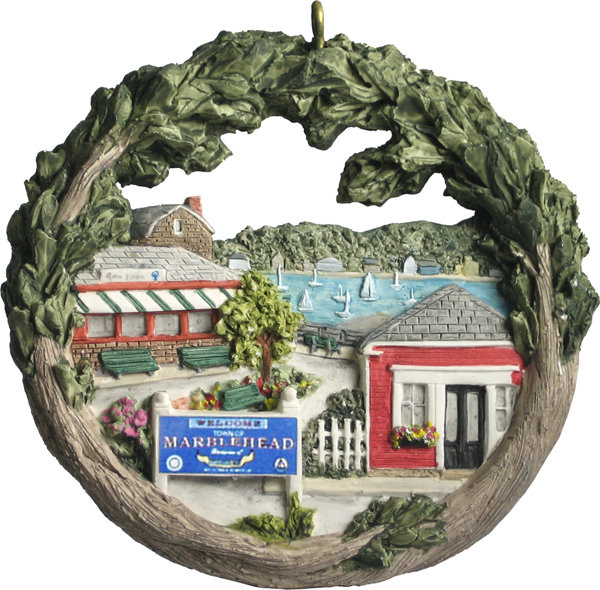1998 Marblehead Annual Ornament - Clark Landing -Driftwood