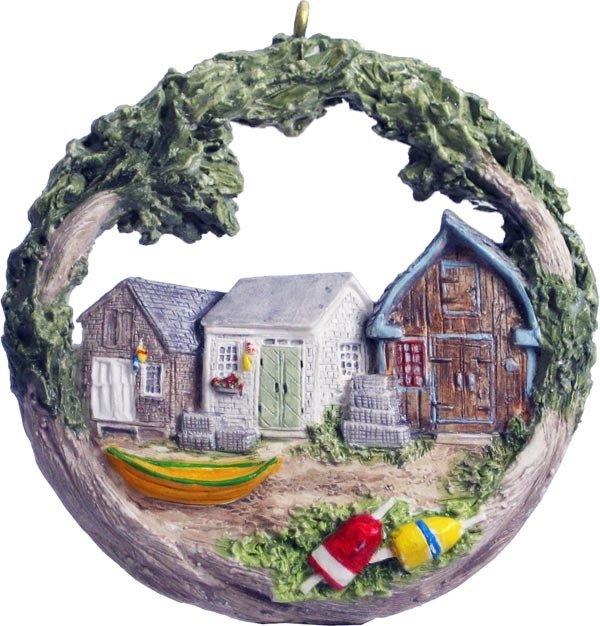 2011 Marblehead Annual Ornament - Fishing Shanties