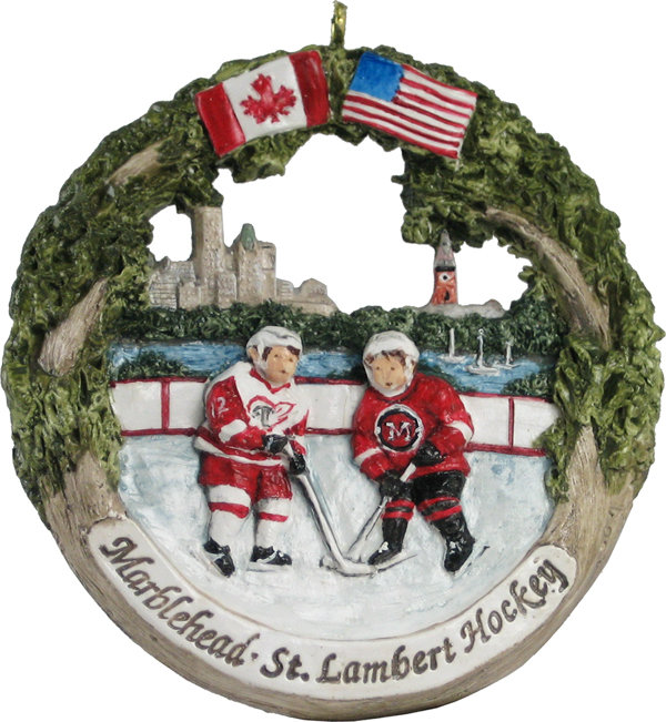 Marblehead AmeriScape - St Lambert Hockey Exchange Ornament