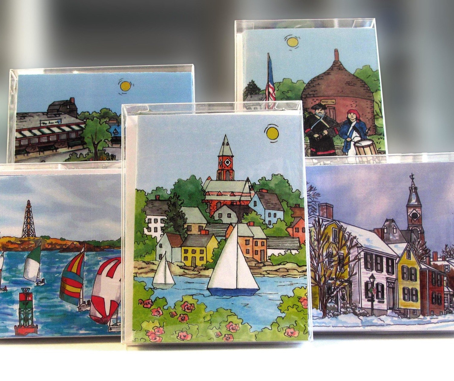 Marblehead WaterScape - Note Cards  Box of 10