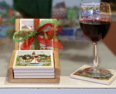Marblehead WaterScape - Coaster Set