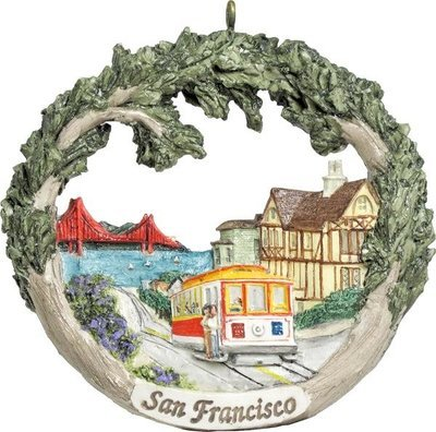 AmeriScape Ornament San Francisco, CA Cable Car
