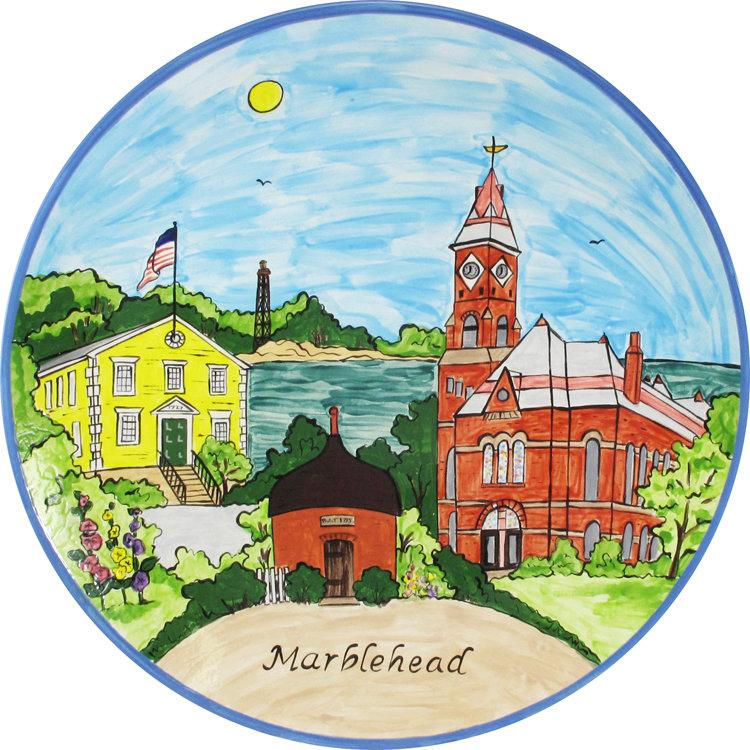 """Marblehead Ceramics  15"""" Round Platter"""