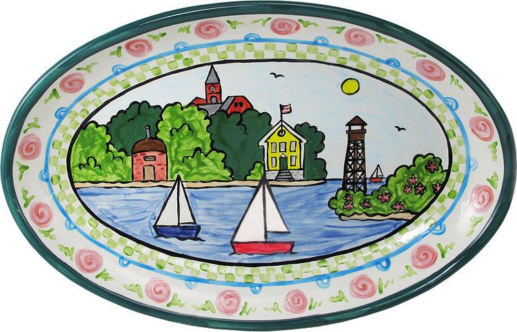 Marblehead Ceramics - Oval Platter