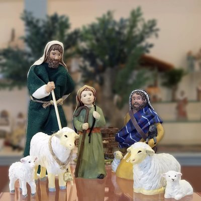 Shepherd Set - Your choice of Shepherd with Sheep and Lambs