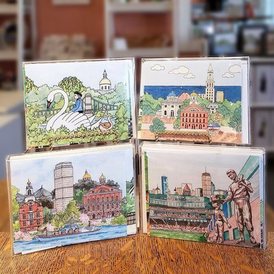 Boston WaterScape - Note Cards  Box of 10