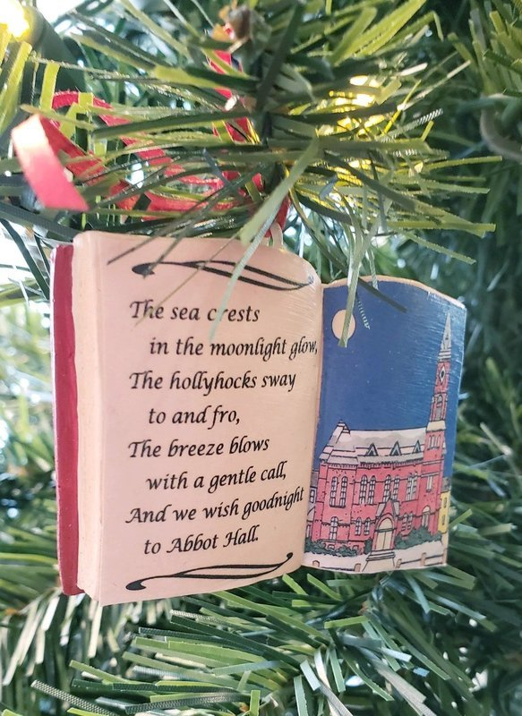 Marblehead WaterScape - Abbot Hall Poem Ornament