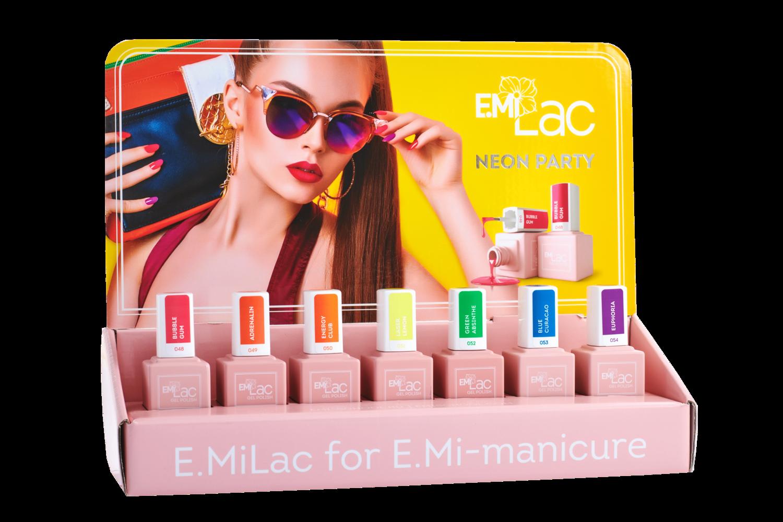 Display E.MiLac Neon Party 6+1 Set