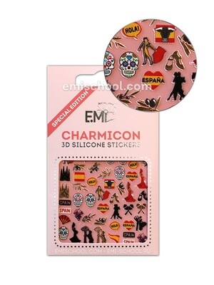 Charmicon 3D Silicone Stickers Spain 1