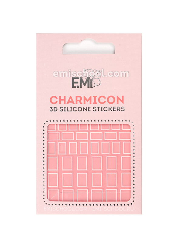 Charmicon 3D Silicone Stickers #114 Squares White