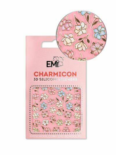 Charmicon 3D Silicone Stickers #136 Magnolias and Lilies