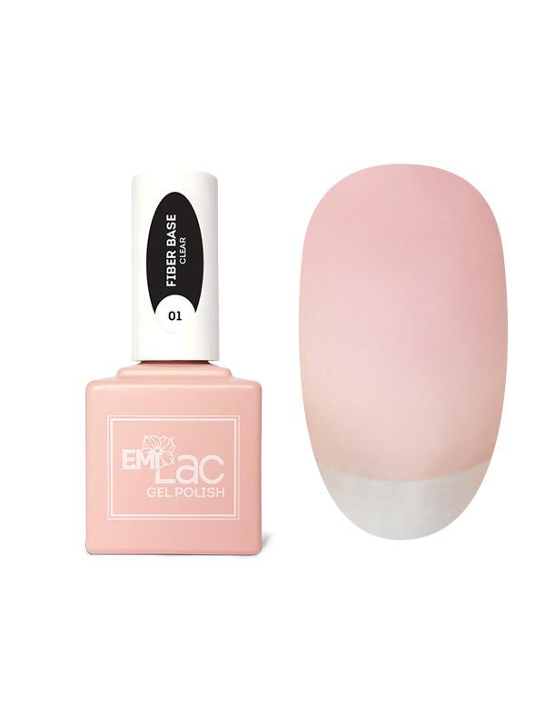 E.MiLac Fiber Base Gel Clear #1, 15 ml.