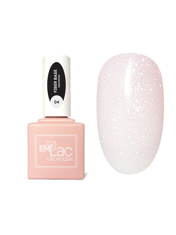 E.MiLac Fiber Base Gel Diamond #4, 15 ml.