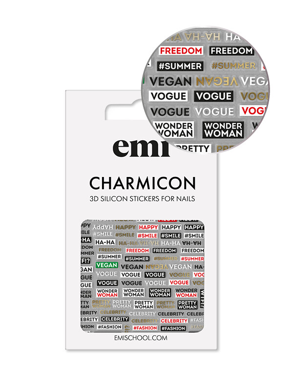 Charmicon 3D Silicone Stickers #179 Phrases