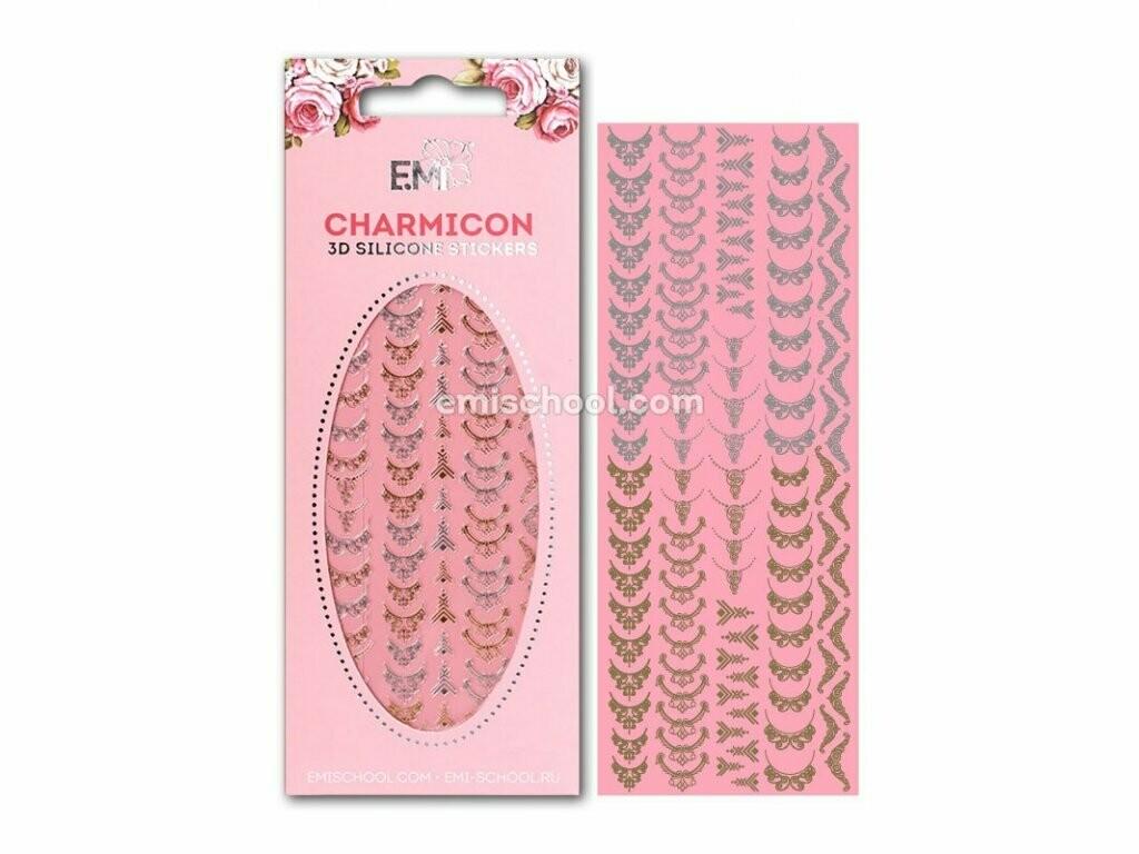 Charmicon 3D Silicone Stickers Lunula MIX  #5 Gold/Silver