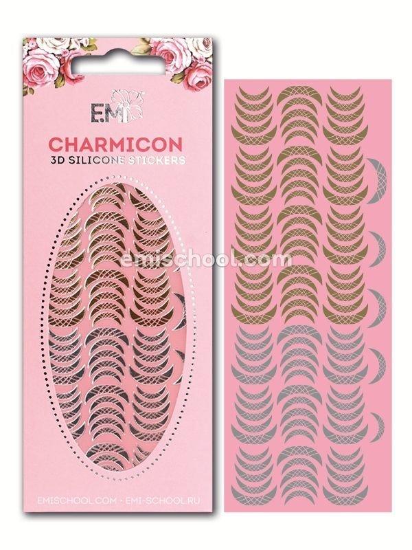 Charmicon 3D Silicone Stickers Lunula #13 Gold/Silver