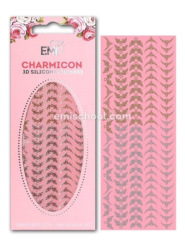 Charmicon 3D Silicone Stickers Lunula #19 Gold/Silver