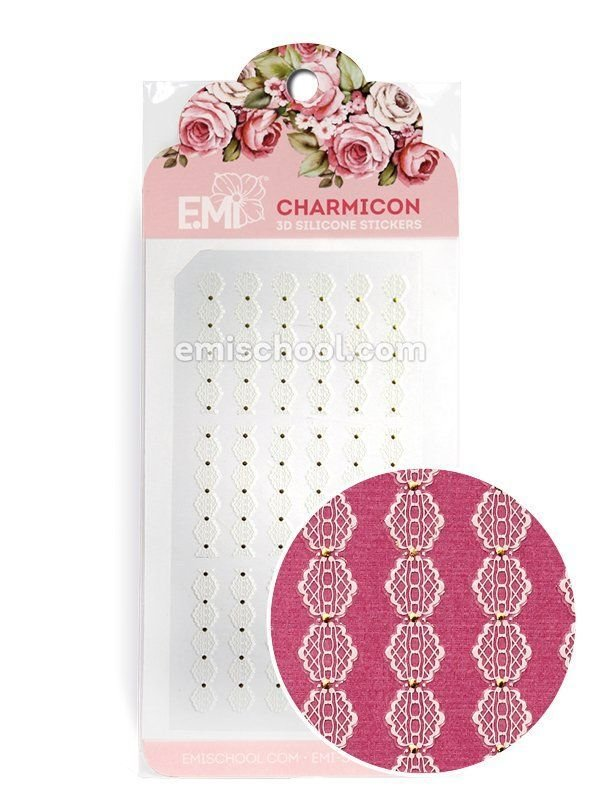 Charmicon 3D Silicone Stickers Ornament White #3