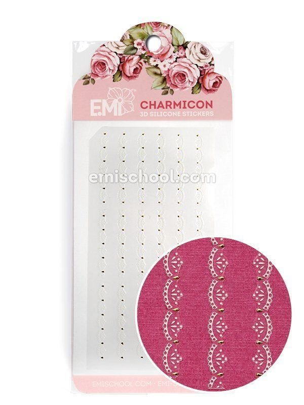 Charmicon 3D Silicone Stickers Ornament White #2