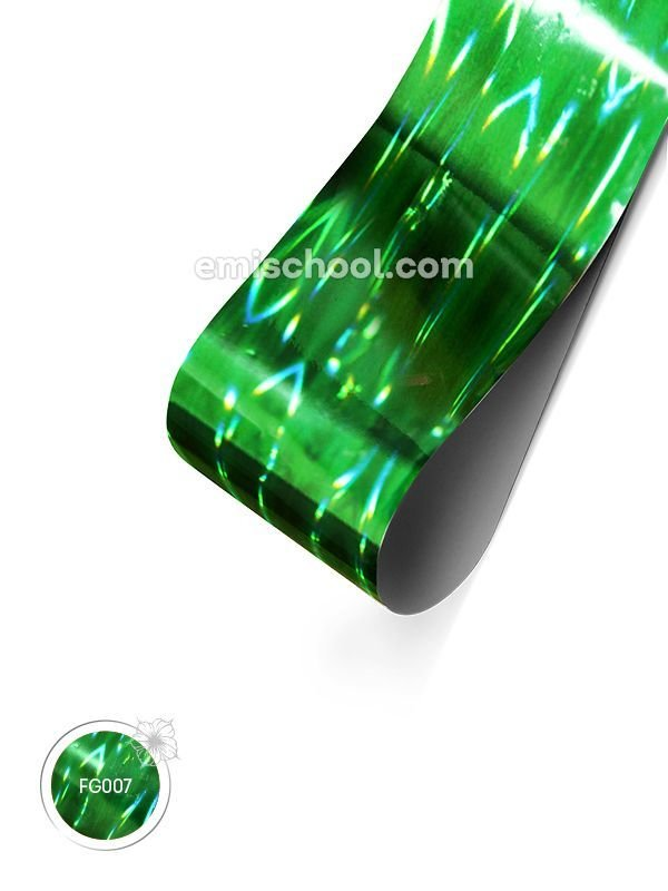 Foil holographic green Stereo effect, 1.5 m.