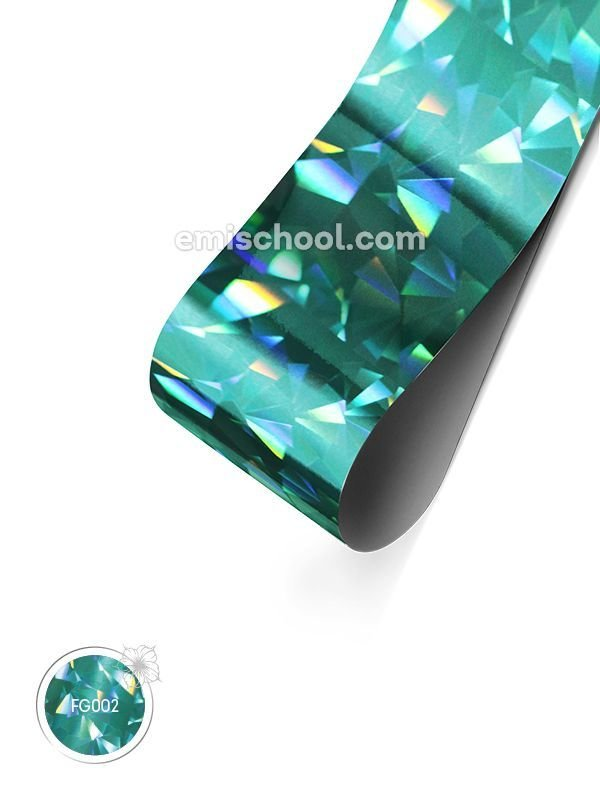 Foil holographic turquoise Crystal, 1.5 m.