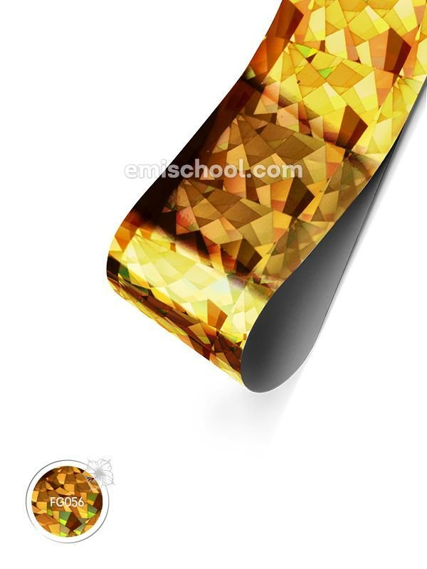 Foil holographic gold Crystals, 1.5 m.