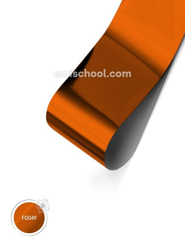 Foil glossy Orange Copper, 1.5 m.