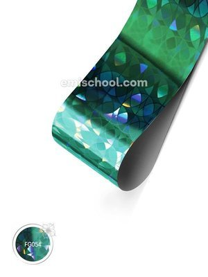 Foil holographic Turquoise Сircles, 1.5 m.