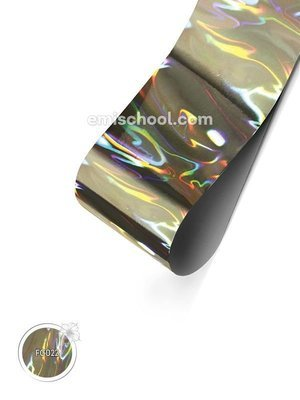 Foil holographic silver Flame, 1.5 m.